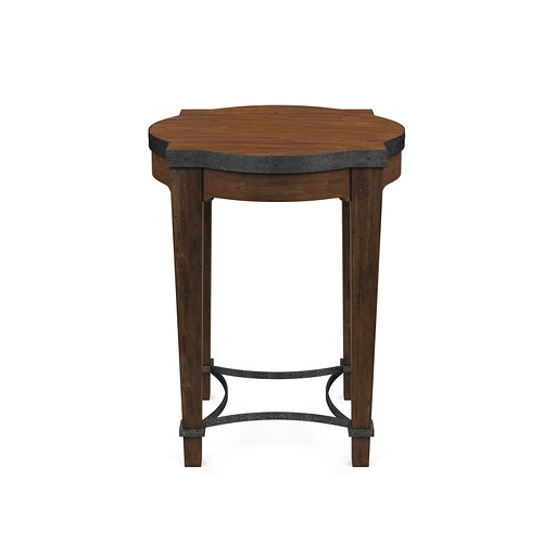 Ginkgo End Table Round Brown