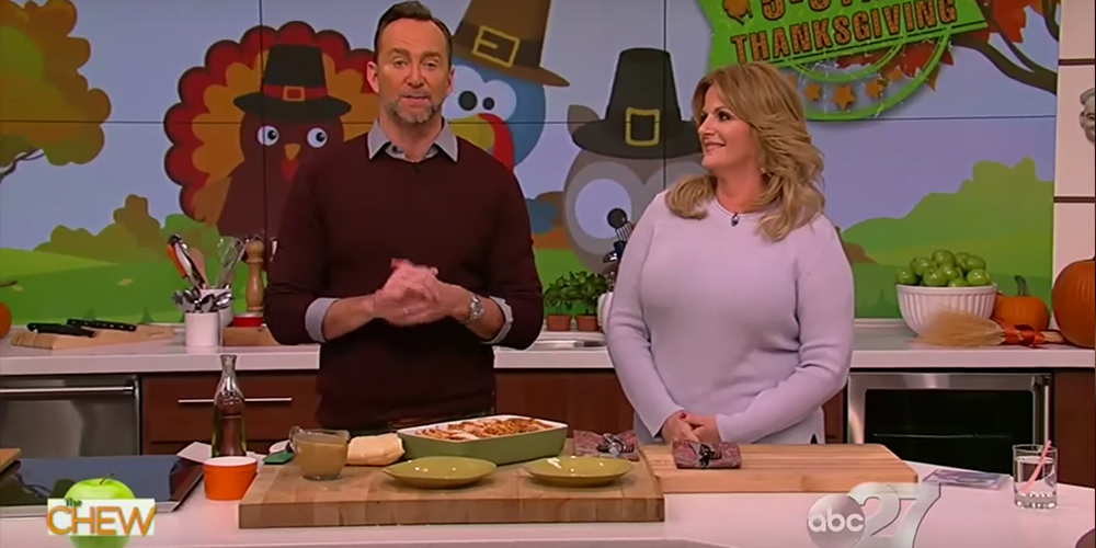 "Trisha Yearwood appears as a guest on ""The Chew"""
