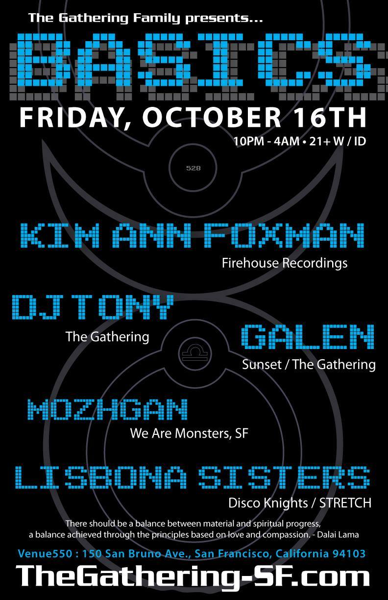 This Friday in San Francisco. Playing tunes with good friend and one of my favorite djs Kim Ann Foxman in our home town. Should be fun night in a sweet space. Details here... https://www.facebook.com/events/535287856622025/