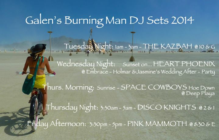 If you're heading to the Burning Man Festival this coming week you can find my musical offerings below. I would absolutely love to have a dance with you on the Playa. Let's get connect and get silly...