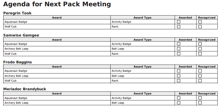 Pack Meeting Planning Sheet Pictures to Pin PinsDaddy – Meeting Planning Template
