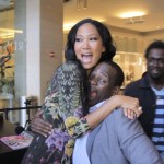 Kimora Lee and Lloyd clowning around after our interview