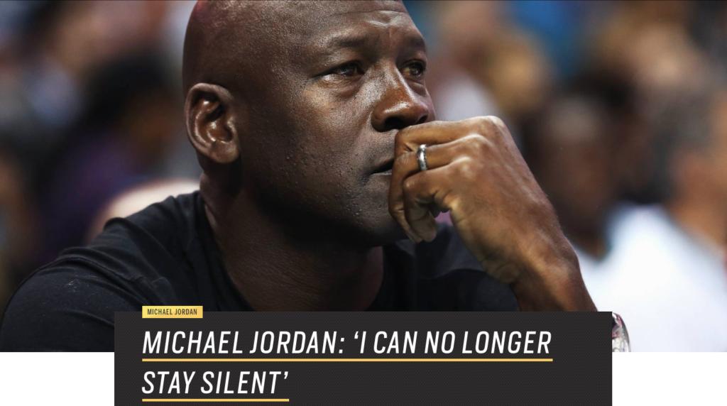 Michael Jordan Speaks Out Against Violence