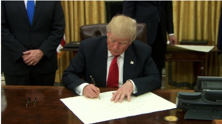 And So It Begins:Trump Signs Executive Order on Obamacare