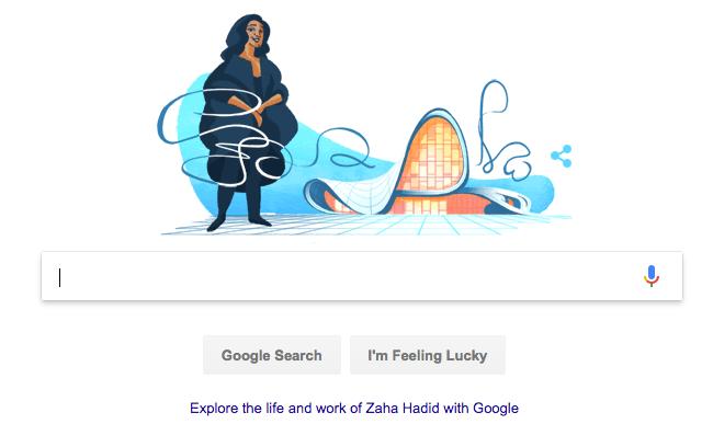 Google Doodle Salutes Architecture Queen