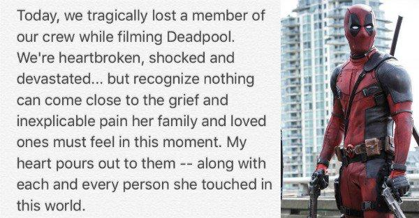 Death on the Set of Deadpool 2