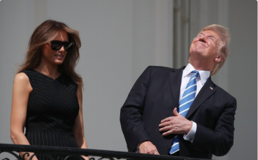 Trump's Eyes > Solar Eclipse
