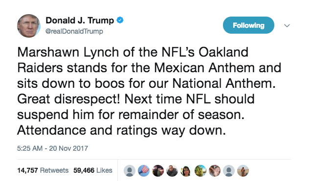 The NFL is Our Presidents Top Priority
