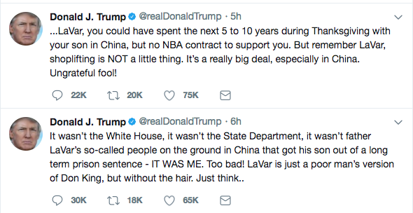 At 4:33am Our President is Up Ranting About Lavar Ball