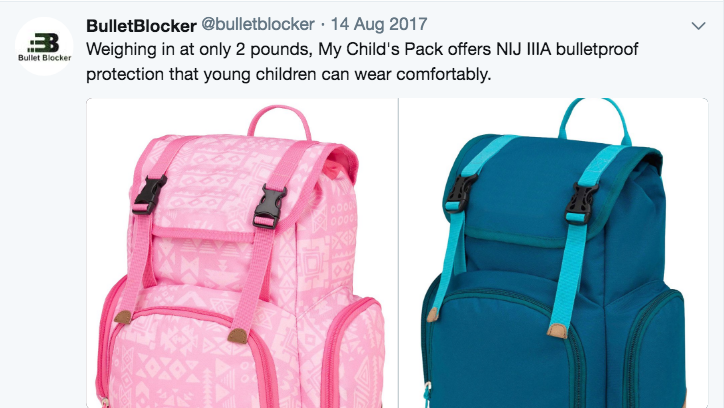 How Sad! Sales of Bullet-Proof Backpacks Spike