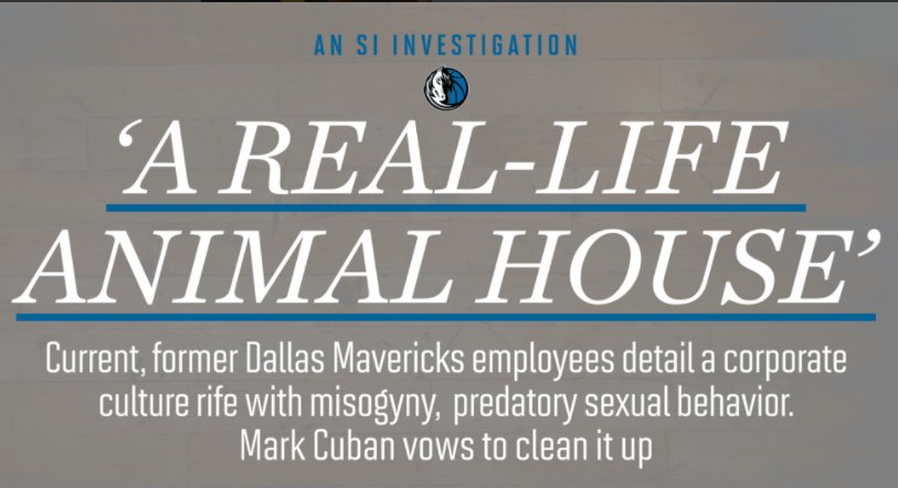 The Mavericks Are Under Investigation and it Aint Good