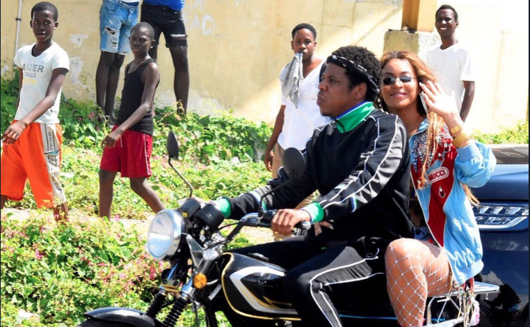 Hov and Bey Rode A Motorcycle and Twitter Lost it