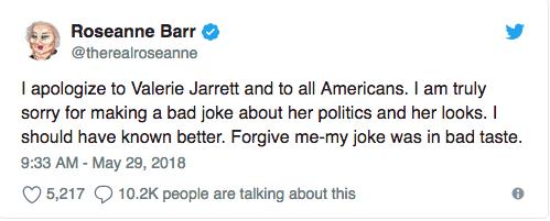 Roseanne racist tweet