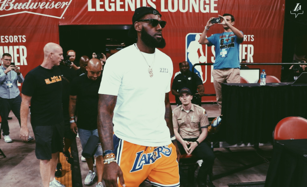 The King Showed Up At Summer League To See What He's Got