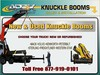 Knuckle Booms New or Refurbished