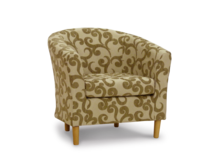 tub chair parchment natural 45 degree