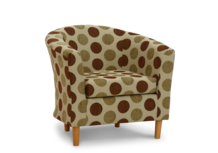 tub chair ditto natural fabric 45 degree