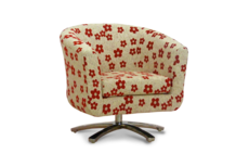 swivel tub chair red woodstock fabric 45 degree.