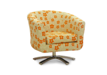 swivel tub chair orange woodstock fabric 45 degree.