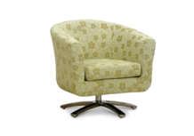 swivel tub chair cream woodstock fabric 45 degree.