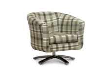 swivel tub chair neyland tartan fabric 45 degree.