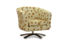 swivel tub chair mustard woodstock fabric 45 degree.