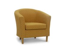 tub chair harvest gold fabric 45 degree.