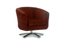 swivel tub chair churchill copper fabric 45