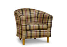 tub chair in neyland star fabric 45