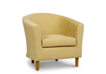 tub chair in microfibre cream fabric 45
