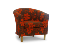 tub chair tosca sunshine fabric 45 degree.