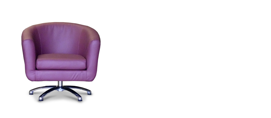 Swivel plum faux leather tub chair for Leather swivel tub chair