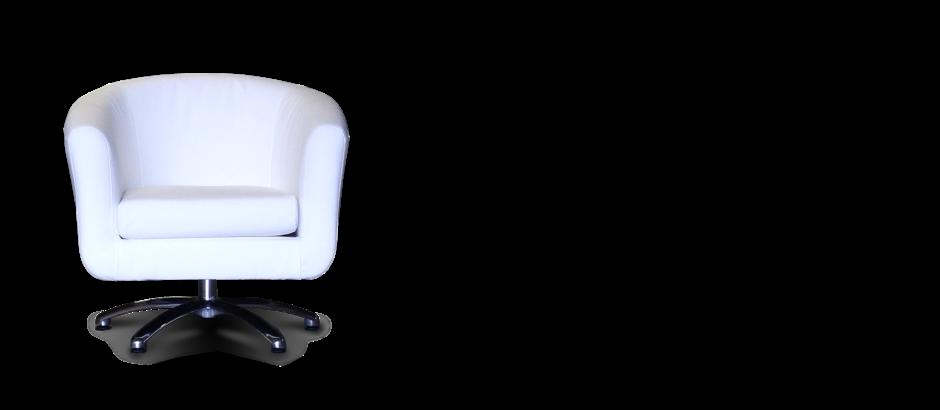 White Faux Leather Swivel Tub Chair