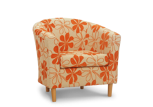 tub chair carmen sunshine fabric 45 degree.