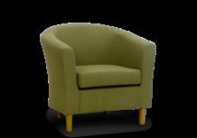 tub chair olive green keywest fabric 45 degree.