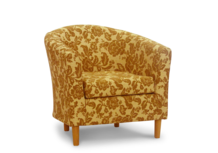 tub chair brown andover fabric 45 degree.