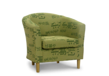 tub chair sale green tokyo fabric 45 degree.