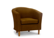 tub chair sale in pimlico coffee fabric 45 degree.