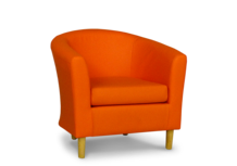 tub chair in faux orange leather 45
