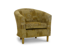 tub chair perth gold fabric 45 degree.