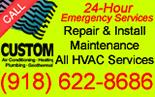 Custom Air Conditioning, Heating & Plumbing