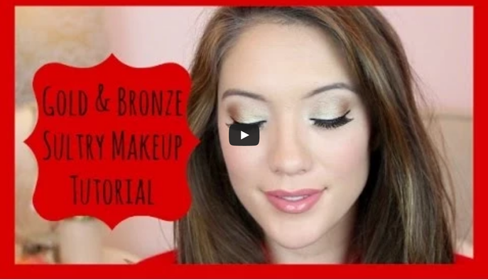 VIDEO: GOLD+BRONZE EYE SHADOW TUTORIAL WITH BLAIR FOWLER OF JUICYSTAR07