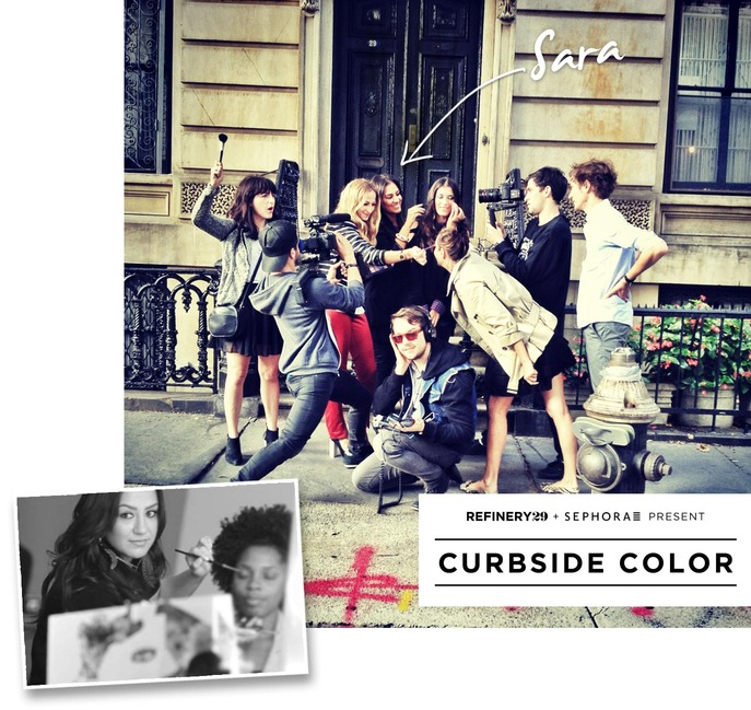 FRONT/CENTER: Go behind the scenes of our Curbside Color video with Refinery29.