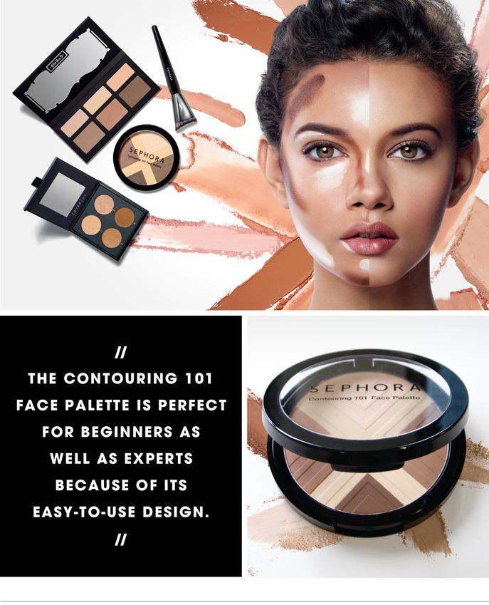 CONTOURING MAGIC: SEPHORA COLLECTION CONTOURING 101 FACE PALETTE