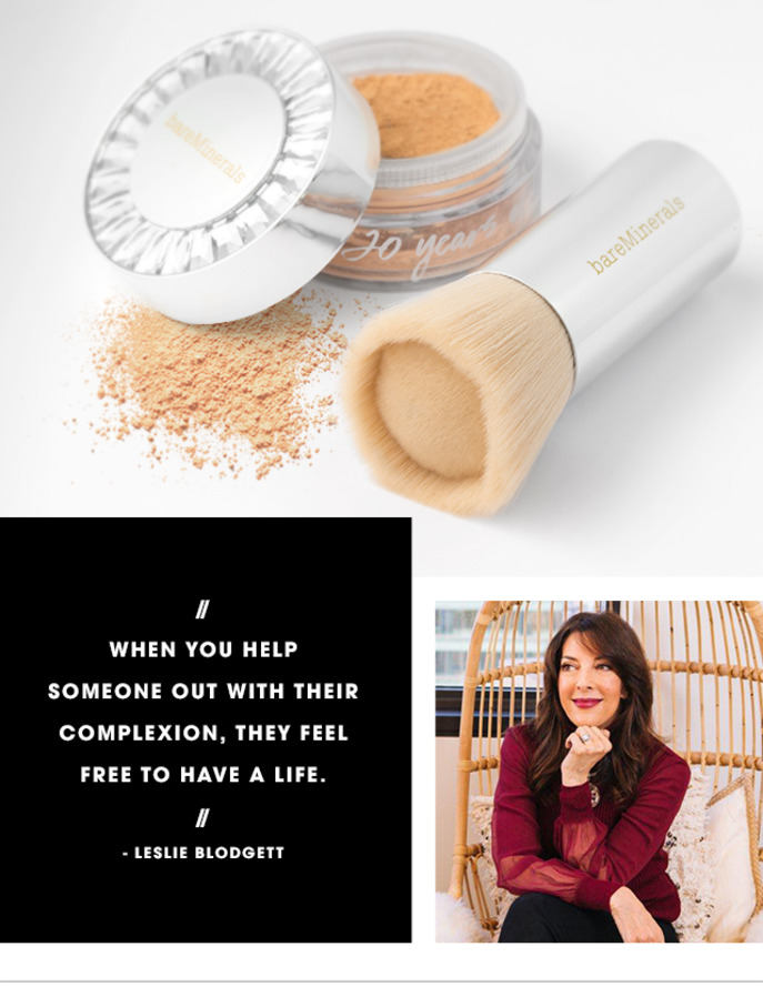 CAMEO: LESLIE BLODGETT ON THE 20TH ANNIVERSARY OF BAREMINERALS ORIGINAL FOUNDATION