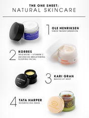 THE ONE SHEET: NATURAL SKINCARE