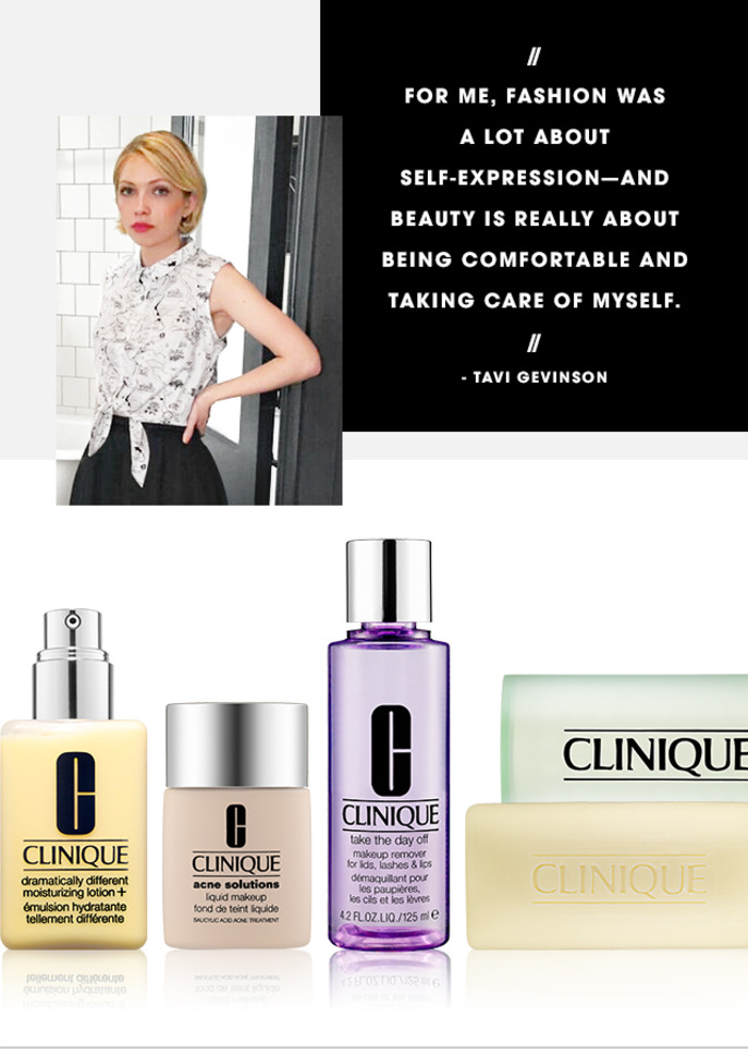 CAMEO: TAVI GEVINSON ON CLINIQUE