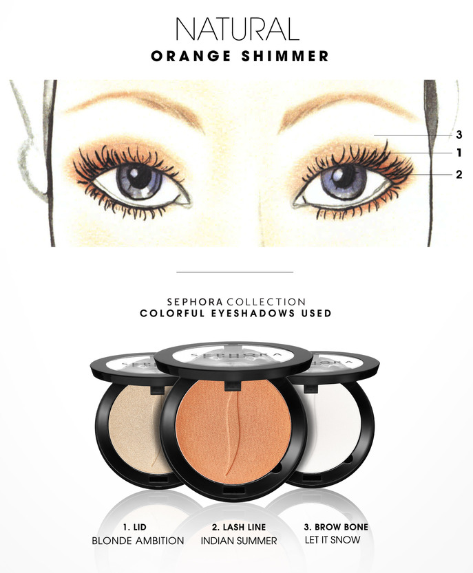 MAKING FACES: ORANGE SHIMMER 1
