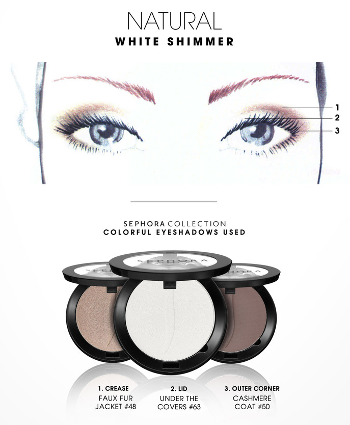 MAKING FACES: WHITE SHIMMER 1