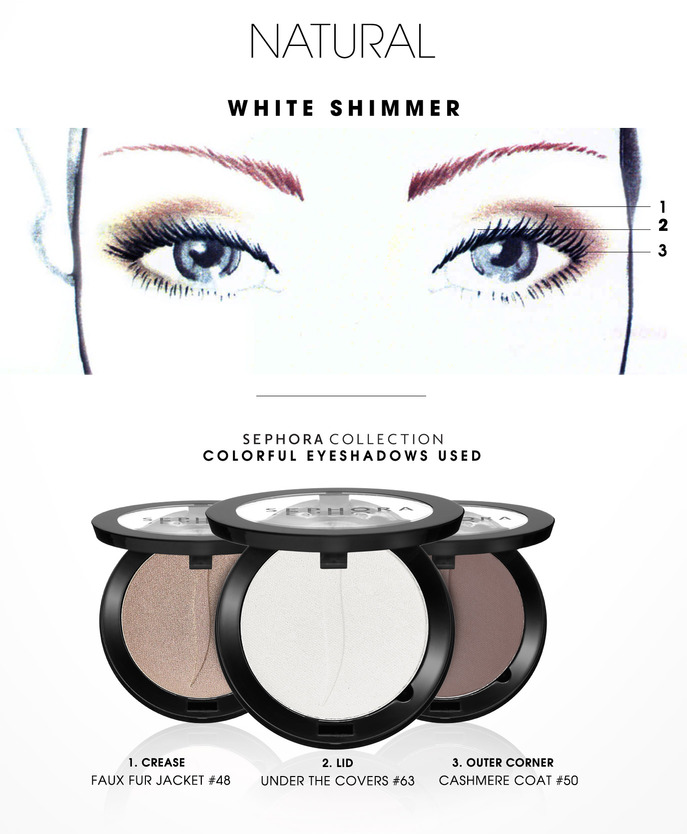 MAKING FACES: WHITE SHIMMER